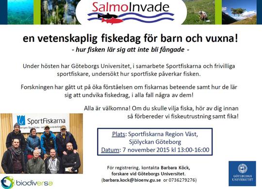 Vetenskaplig fiskedag för barn och vuxna lördag 7 november