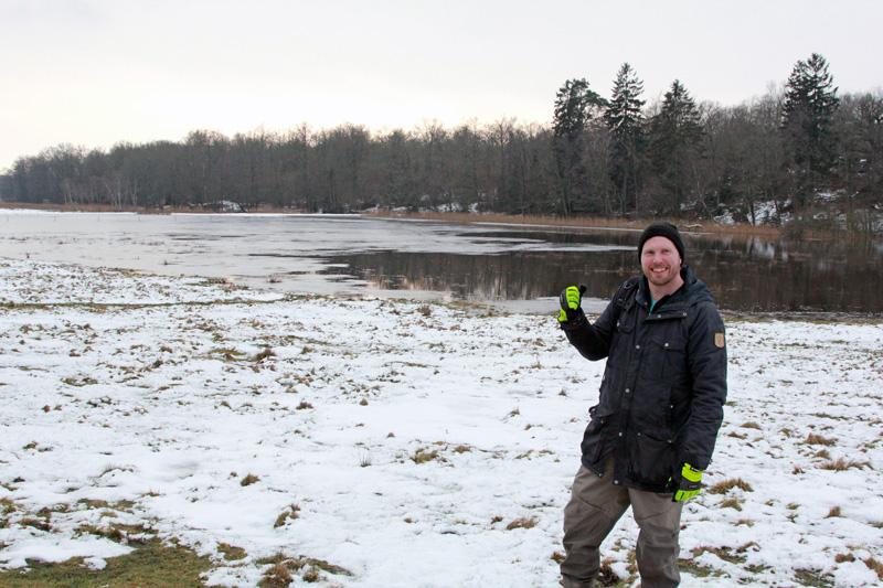 Första våtmarken i Blekinge klar för gäddlek