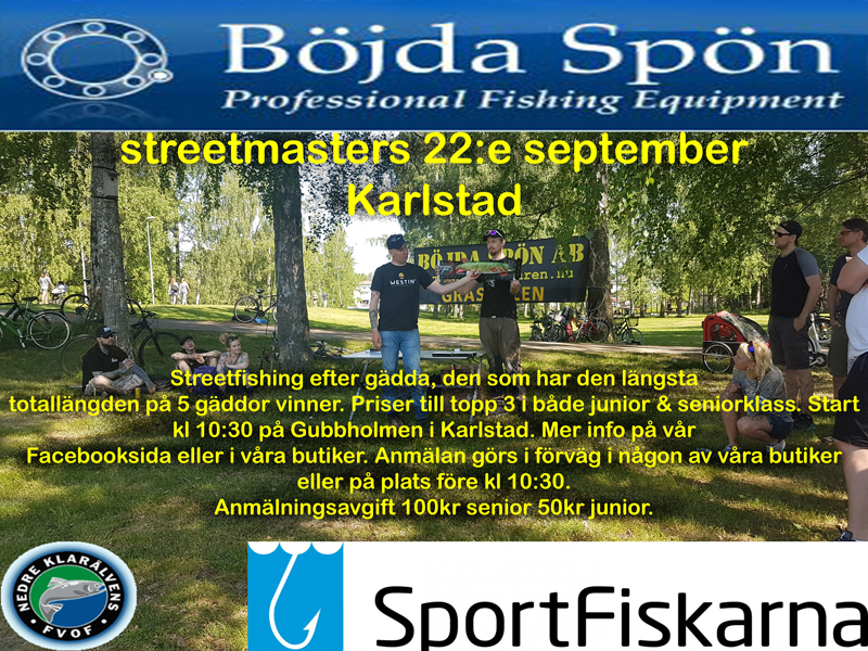 Välkomna på Streetmasters Karlstad 22 september