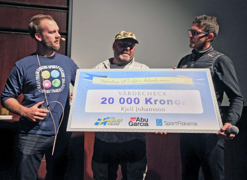 Kjell Johansson från Östersund fick 2019 års Åslunds-stipendium