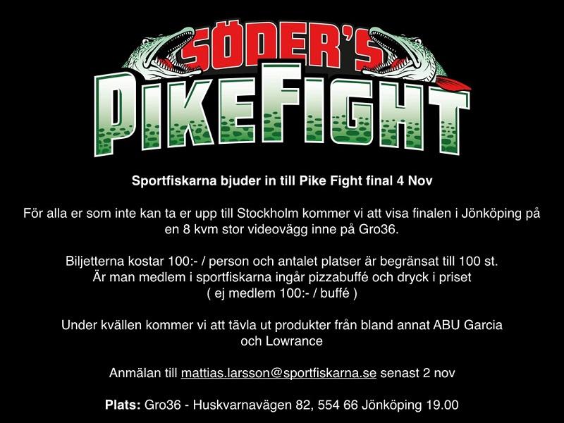 Titta på finalen i Pike Fight i Jönköping 4 november