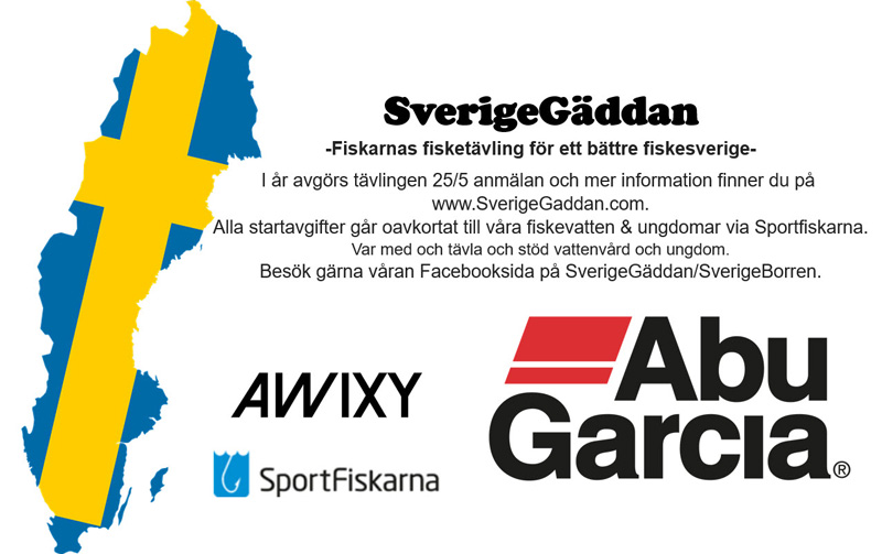 SverigeGäddan- gäddfisketävling landet runt 25 maj