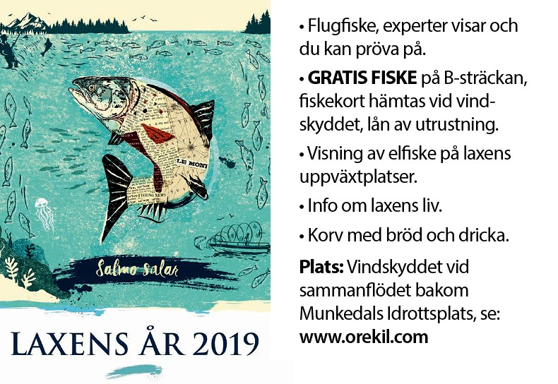 Fiska gratis på Laxens dag i Munkedal 21/9