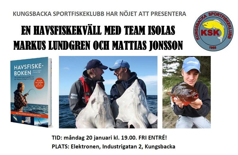 Havsfiskeföreläsning i Kungsbacka 20/1