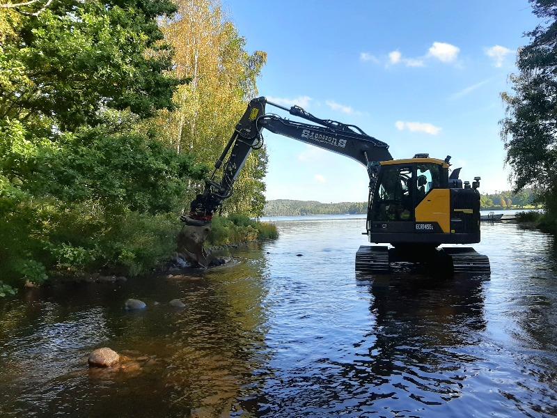 Sportfiskarna restaurerar Torestorpsån i Viskans vattensystem