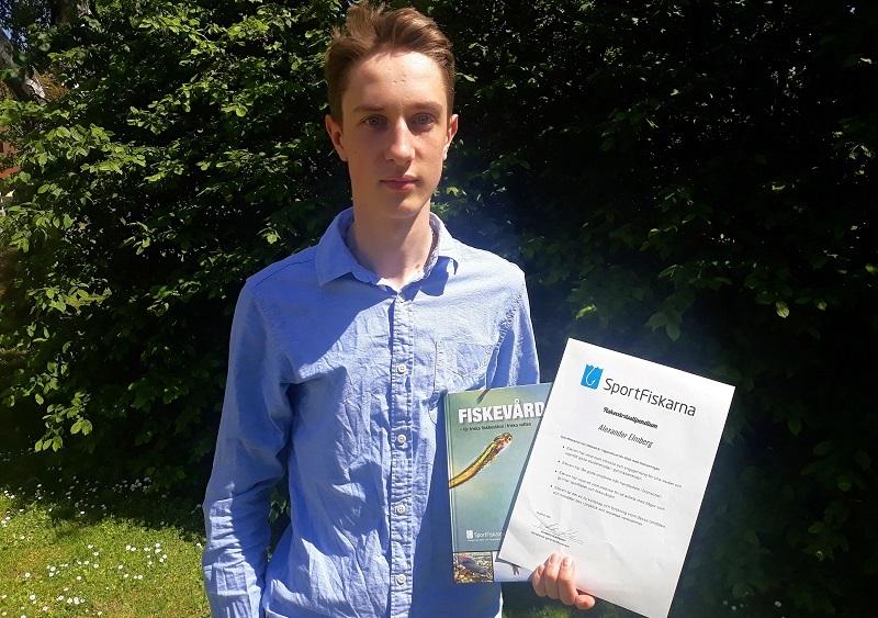 Alexander Elmberg fick Fiskevårdsstipendium