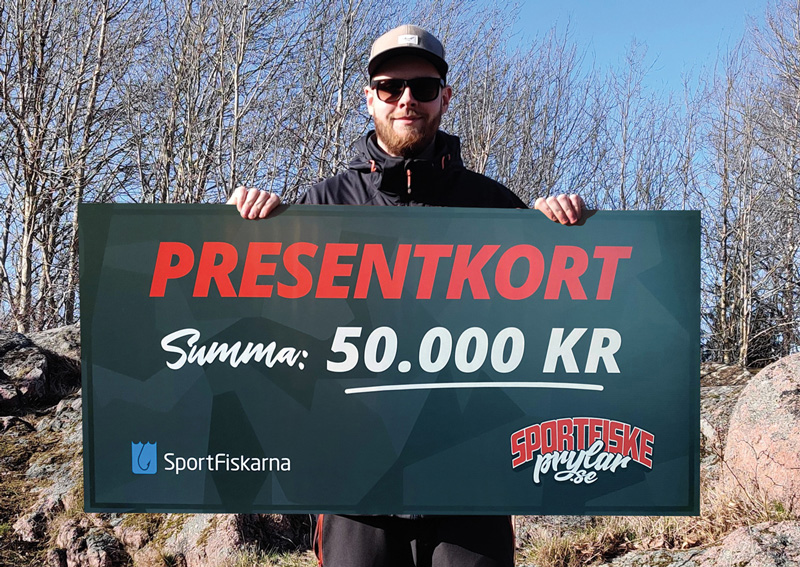 Joakim vann presentkortet på 50.000 kr!