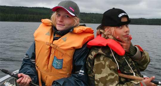Fiskeläger för tjejer i Forshaga i juli