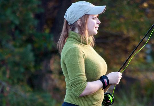 Sportfiskekurs för kvinnor på Hökensås